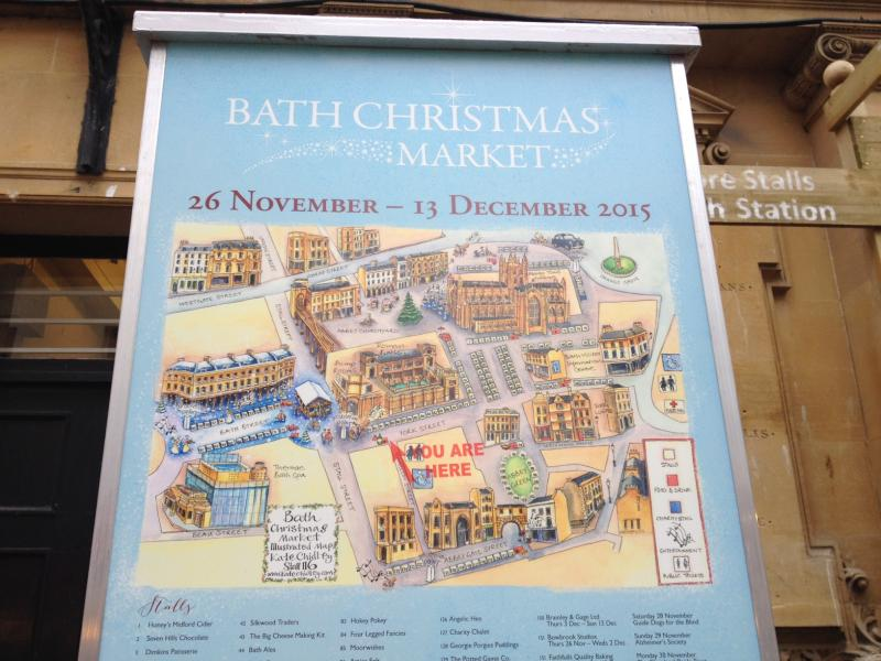 「Bath Christmas Market」の会場地図